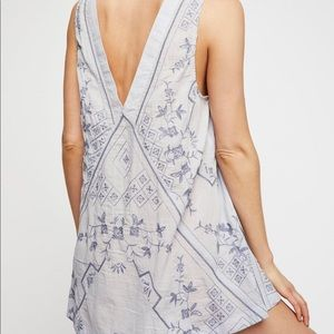 457718f45e7f Free People Dresses - Free People Blue Sweetest Shifty Slip Dress